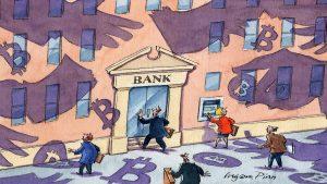 Banky budou řídit přijetí Bitcoinu