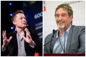 Elon Musk, John McAfee a manipulace s BTC a DOGE: mohou tweety změnit hodnotu aktiva?