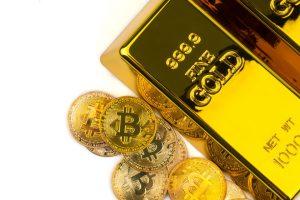 Bitcoin v roce 2021 vzrostl a zlato pokleslo