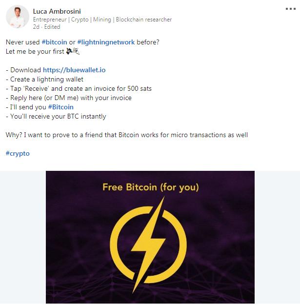 """500 satoshi zdarma: na podporu Lightning Network byla spuštěna iniciativa""""Bitcoin torch"""""""